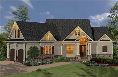 3-Bedroom, 2266 Sq Ft Cottage House Plan - 198-1057 - Front Exterior