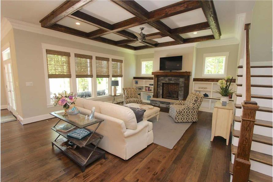 Family Room of this 5-Bedroom,3970 Sq Ft Plan -198-1060