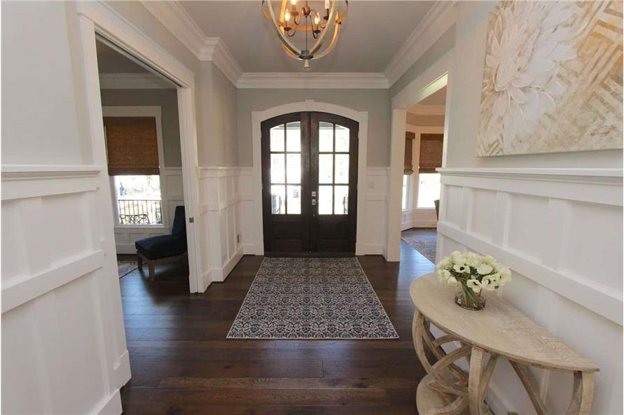 Entry Hall: Foyer of this 5-Bedroom,3970 Sq Ft Plan -198-1060