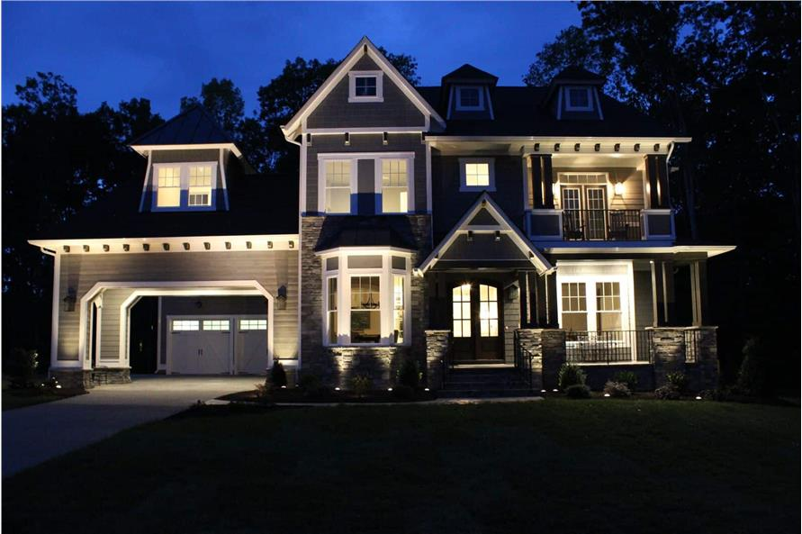 Home at Night of this 5-Bedroom,3970 Sq Ft Plan -198-1060