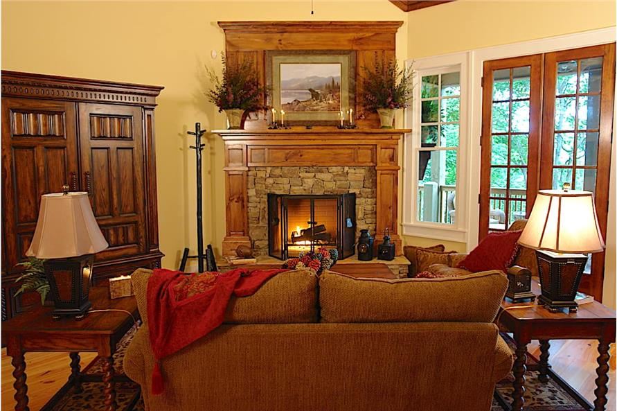 Great Room: Fireplace of this 3-Bedroom,1997 Sq Ft Plan -198-1061