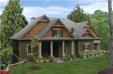 3-Bedroom, 1997 Sq Ft Cottage House Plan - 198-1061 - Front Exterior