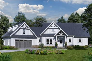 4-Bedroom, 3123 Sq Ft Craftsman Home Plan - 198-1062 - Main Exterior