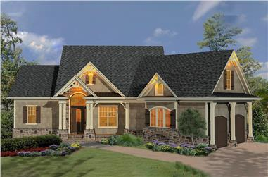Cottage home (ThePlanCollection: House Plan #198-1064)