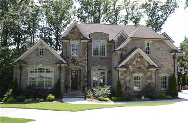 5-Bedroom, 4661 Sq Ft French Home Plan - 198-1067 - Main Exterior