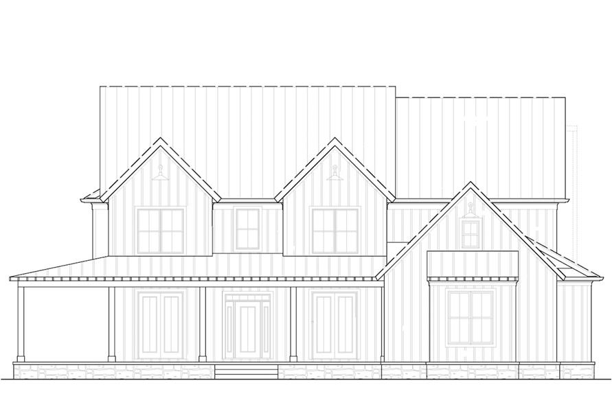 Home Plan Front Elevation of this 5-Bedroom,3314 Sq Ft Plan -198-1068