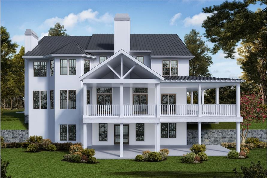Home Plan Rendering of this 5-Bedroom,3314 Sq Ft Plan -3314