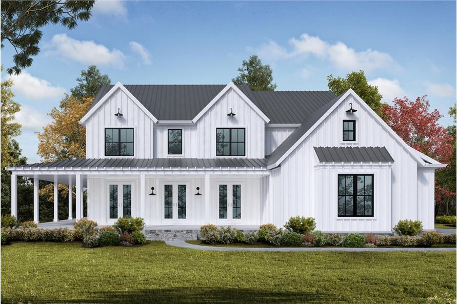 5-Bedroom, 3314 Sq Ft Farmhouse Home - Plan #198-1068 - Main Exterior