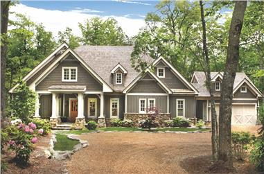 4-Bedroom, 4941 Sq Ft Cottage House Plan - 198-1074 - Front Exterior