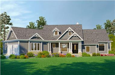 3-Bedroom, 2510 Sq Ft Cottage House - Plan #198-1077 - Front Exterior