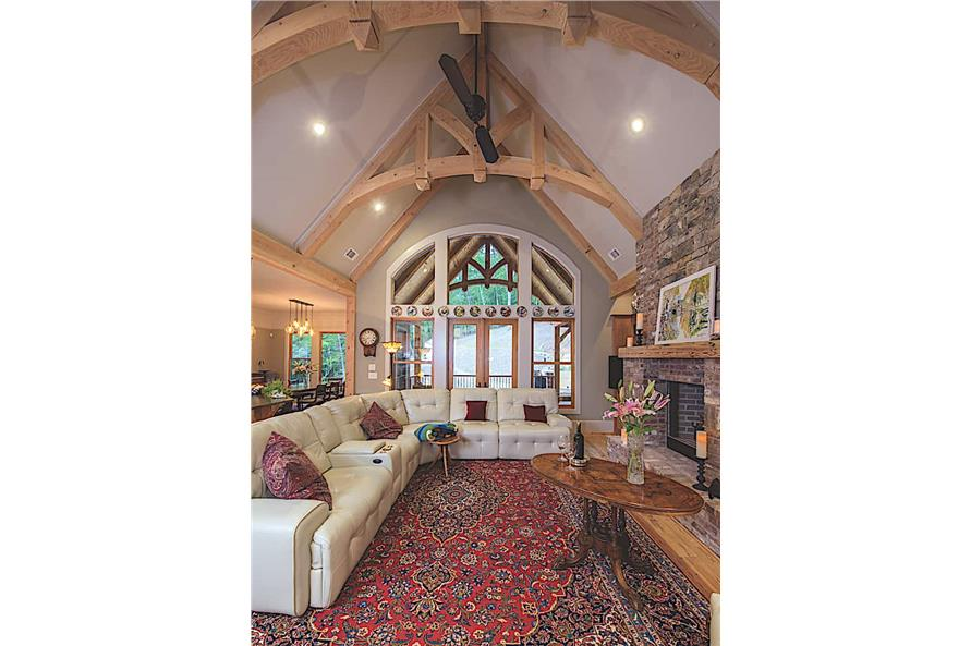 Great Room: Ceiling of this 3-Bedroom,2574 Sq Ft Plan -2574