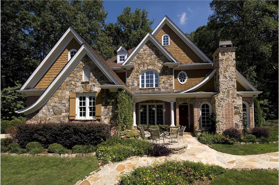 3-Bedroom, 2989 Sq Ft Cottage Home Plan - 198-1081 - Main Exterior