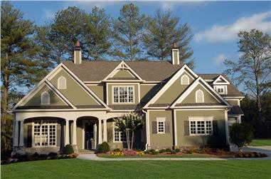 Cottage style luxury home (ThePlanCollection: Plan #198-1082)