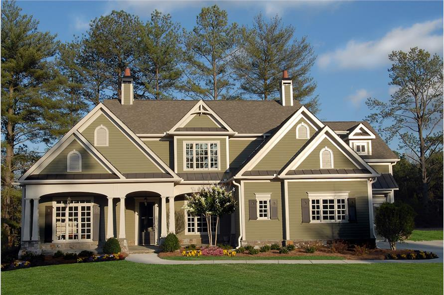 4-Bedroom, 3337 Sq Ft Cottage House Plan - 198-1082 - Front Exterior