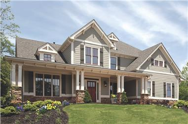Craftsman style home (ThePlanCollection: House Plan #198-1083)