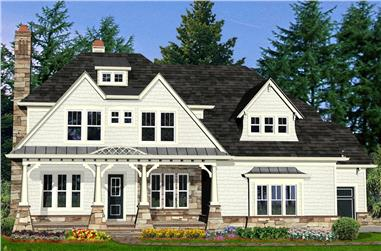5-Bedroom, 3905 Sq Ft Southern House Plan - 198-1087 - Front Exterior