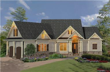 Cottage style home (ThePlanCollection: Plan #198-1090)