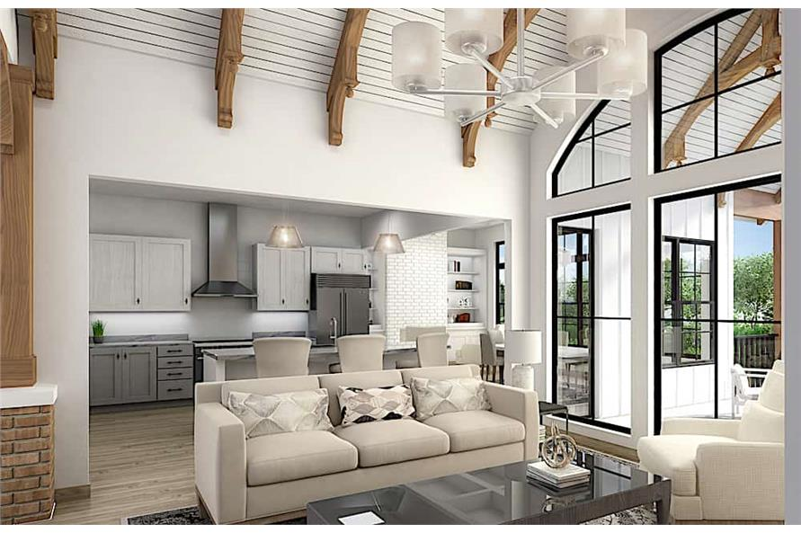 Great Room: Windows of this 5-Bedroom,3745 Sq Ft Plan -198-1092