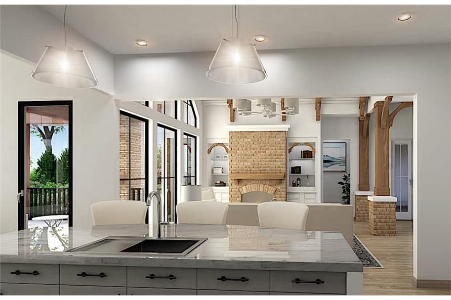 Kitchen: Kitchen Island of this 5-Bedroom,3745 Sq Ft Plan -198-1092