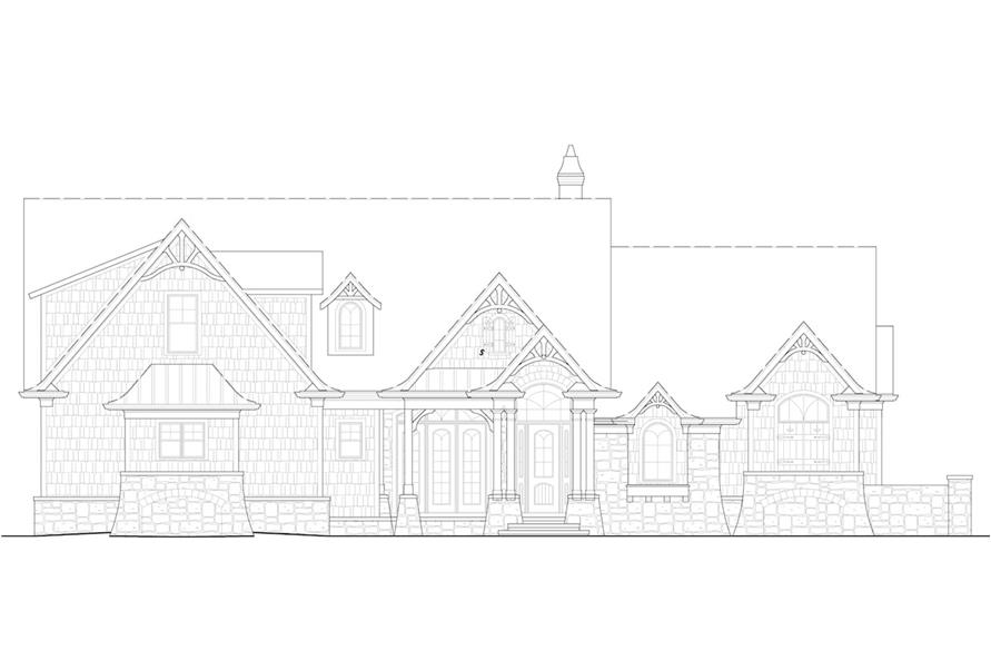 Home Plan Front Elevation of this 5-Bedroom,3745 Sq Ft Plan -198-1092