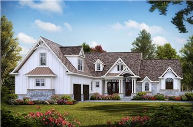 5-Bedroom, 3745 Sq Ft Country Home - Plan #198-1092 - Main Exterior