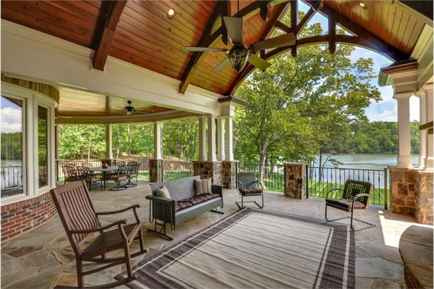 Deck of this 4-Bedroom,3954 Sq Ft Plan -3954