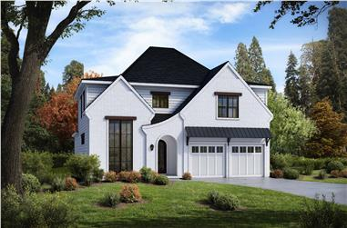 4-Bedroom, 3104 Sq Ft Tudor House - Plan #198-1101 - Front Exterior
