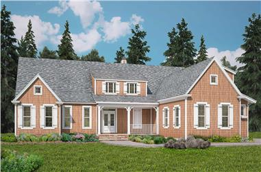 3-Bedroom, 3071 Sq Ft Farmhouse House - Plan #198-1102 - Front Exterior