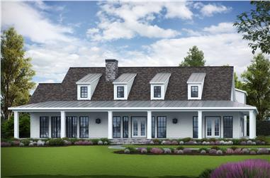 3-Bedroom, 3152 Sq Ft Cottage House Plan - 198-1103 - Front Exterior