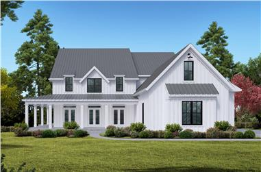 4-Bedroom, 3788 Sq Ft Farmhouse House Plan - 198-1106 - Front Exterior