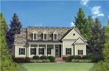 3-Bedroom, 2389 Sq Ft Cape Cod House Plan - 198-1107 - Front Exterior