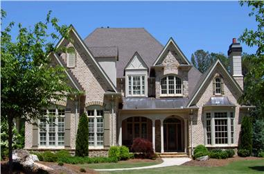 5-Bedroom, 5688 Sq Ft Southern House Plan - 198-1108 - Front Exterior
