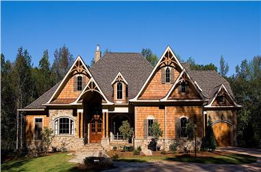 4-Bedroom, 5099 Sq Ft Rustic Home - Plan #198-1111 - Main Exterior