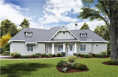 3-Bedroom, 2510 Sq Ft Ranch Home - Plan 198-1114 - Main Exterior