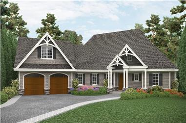 3-Bedroom, 2243 Sq Ft Cottage House Plan - 198-1115 - Front Exterior