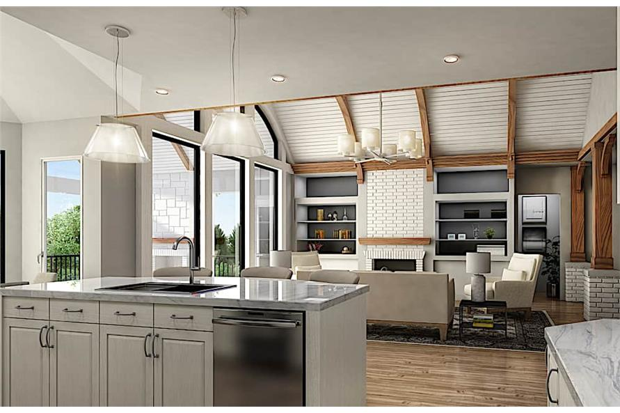 Kitchen of this 3-Bedroom,3730 Sq Ft Plan -3730