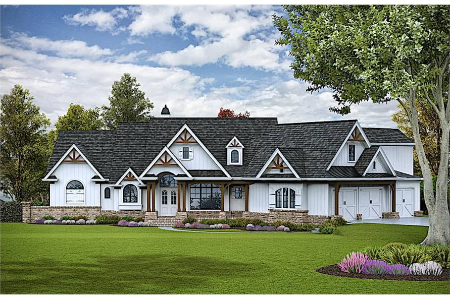 3-Bedroom, 3730 Sq Ft Luxury Home - Plan #198-1116 - Main Exterior