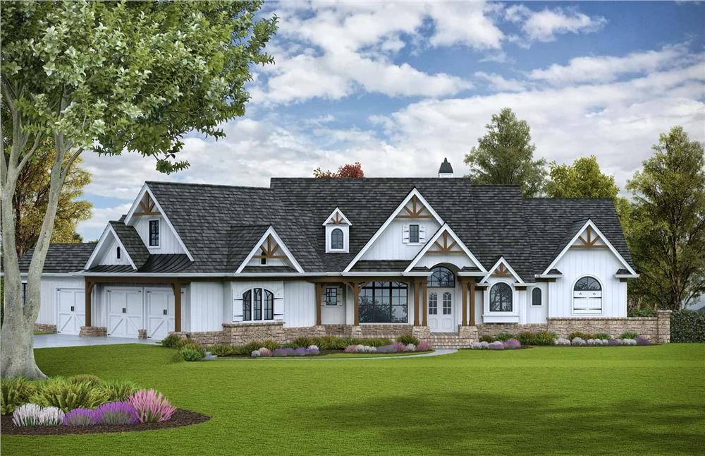 Luxury home (ThePlanCollection: Plan #198-1117)