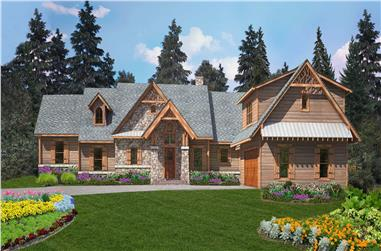 4-Bedroom, 2940 Sq Ft Craftsman Home Plan - 198-1118 - Main Exterior