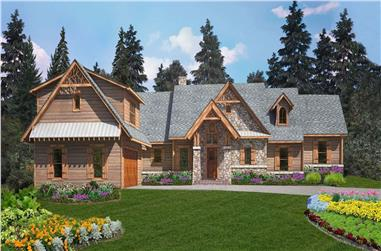 4-Bedroom, 3453 Sq Ft Craftsman House Plan - 198-1119 - Front Exterior