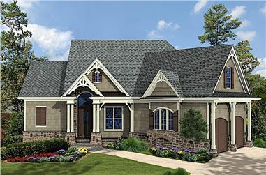 3-Bedroom, 1515 Sq Ft French Home Plan - 198-1120 - Main Exterior