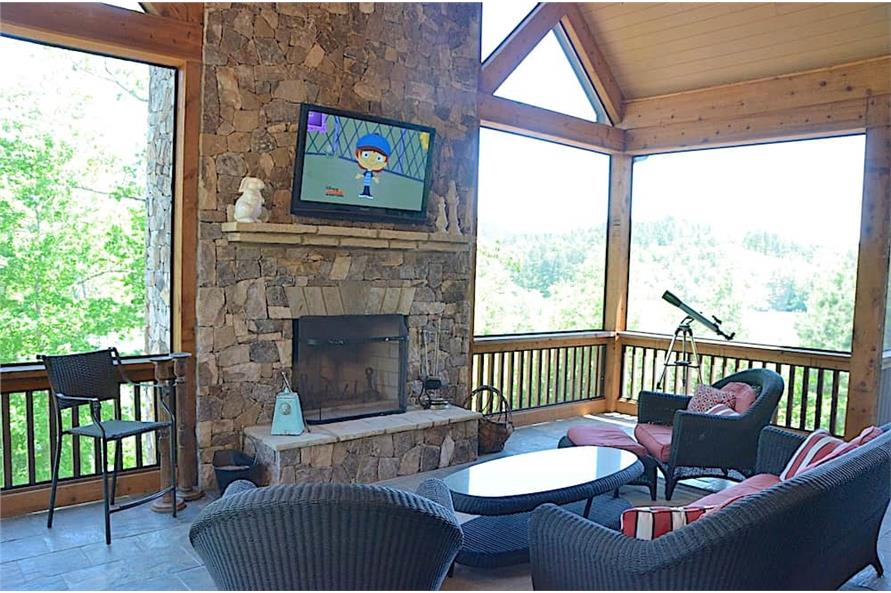 Porch of this 3-Bedroom,4384 Sq Ft Plan -4384