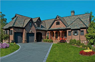 3-Bedroom, 4384 Sq Ft Farmhouse Home Plan - 198-1122 - Main Exterior