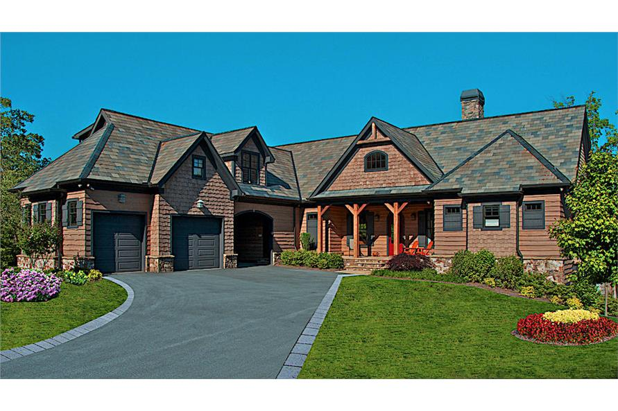 3-Bedroom, 4384 Sq Ft Luxury House - Plan #198-1122 - Front Exterior