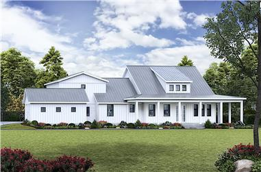 3-Bedroom, 2407 Sq Ft Ranch House - Plan #198-1124 - Front Exterior
