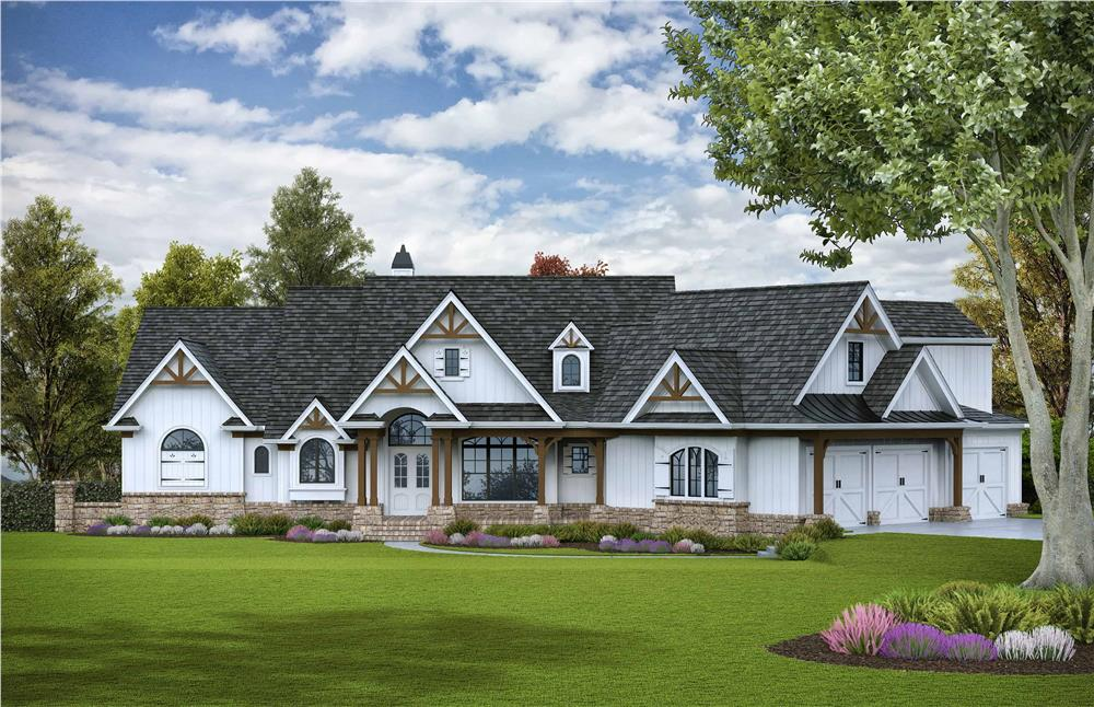 Rustic home (ThePlanCollection: Plan #198-1125)