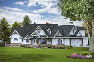 3-Bedroom, 3642 Sq Ft Rustic House - Plan #198-1125 - Front Exterior