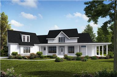 4-Bedroom, 4549 Sq Ft Farmhouse House Plan - 198-1126 - Front Exterior