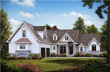 3-Bedroom, 2795 Sq Ft Acadian Home Plan - 198-1129 - Main Exterior