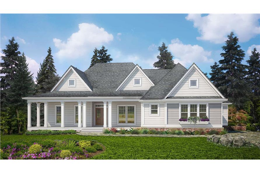 3-Bedroom, 2830 Sq Ft Ranch House - Plan #198-1130 - Front Exterior